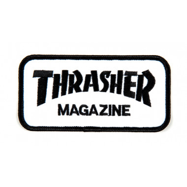 Patch Thrasher Logo Grey Black
