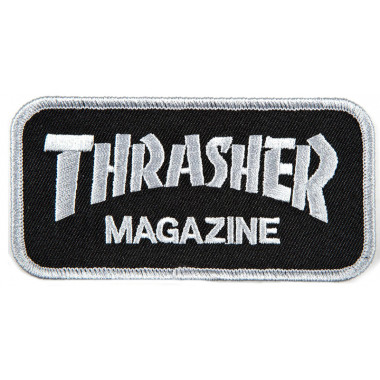 Patch Thrasher Logo Black White
