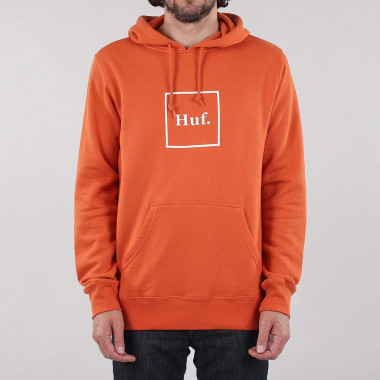 Hoodies Huf Box Logo Rust