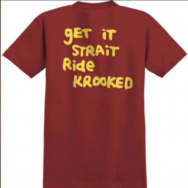 Tee Krooked Straight Eyes Red Yellow Print
