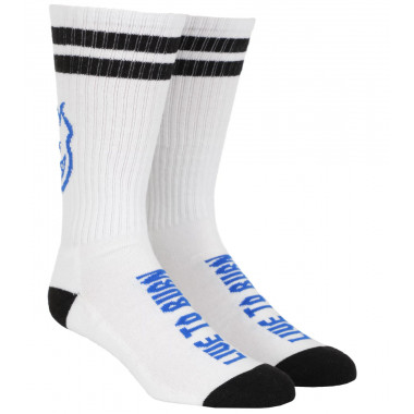 Socks Spitfire SF Heads Up White Black Blue
