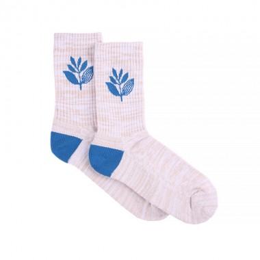 Socks Magenta Mid White Blue