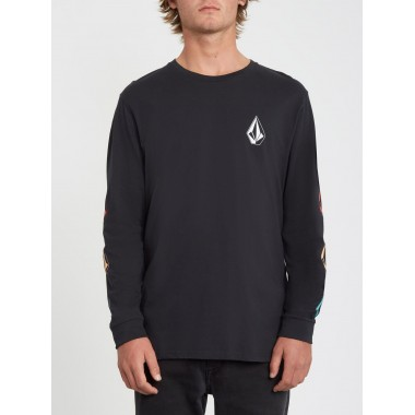 Tee Volcom Deadly Stone LS Black
