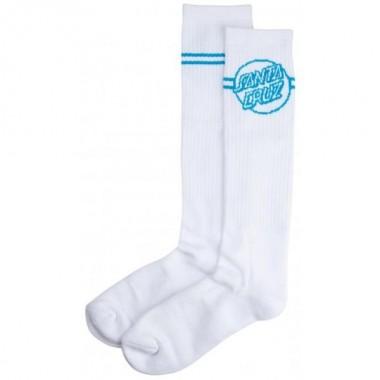 Socks Santa Cruz Opus Dot Stripes White