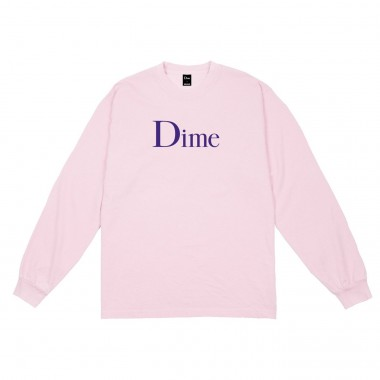 Tee Dime Classic Logo LS Pink