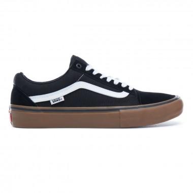 Shoes Vans Old Skool Pro Black White Medium Gum VZD4BW9