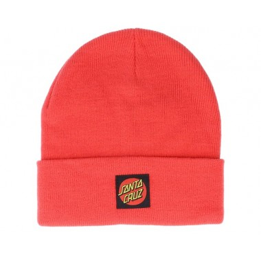 Bonnet Santa Cruz Classic Label Dot Hot Coral