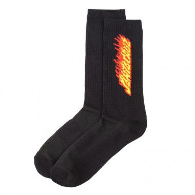 Socks Santa Cruz Flaming Strip Black