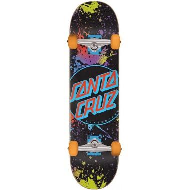 Complete Board Santa Cruz Dot Splatter Black
