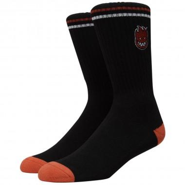 Socks Spitfire Bighead Fill EMB Black Red White