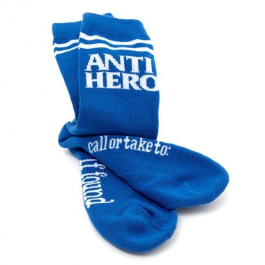 Socks Anti Hero Blackhero If Found Blue White