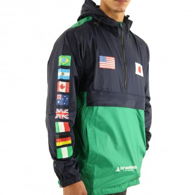 Jacket Huf Flags Anorak French Navy