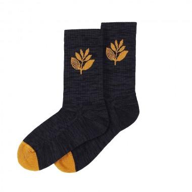 Socks Magenta Plant Black Honey