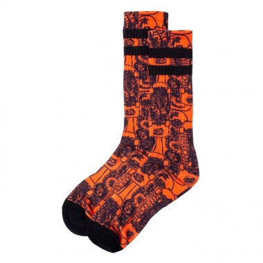 Socks Santa Cruz Kendall Catalogue Orange Black