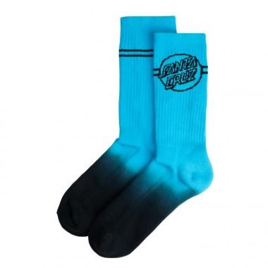 Socks Santa Cruz Opus Dot Stripe Fade Neon Blue Black