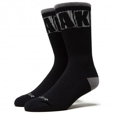 Socks Baker Logo Black Grey