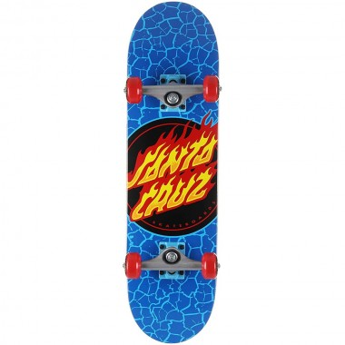 Complete Board Santa Cruz Flame Dot Blue