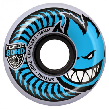 Roues Spitfire Charger Bighead CNCL Clear Blue 80HD