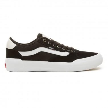 Shoes Vans Chima Fergusson Pro 2 Suede Canvas Black White V3MTIIJU