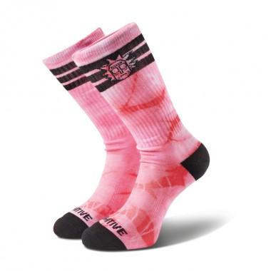 Socks Primitive Rick Ringer Crew Pink Tie Dye