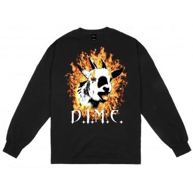 Tee Dime Fire Goat LS Black