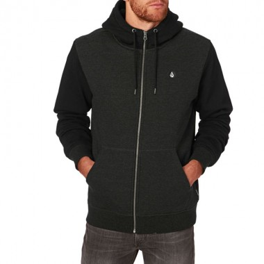 Hoodies Volcom SNGL Stone Lined Black
