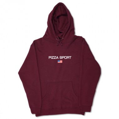 Hoodies Pizza Sport Burgundy