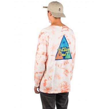 Tee Huf Acid Skull TT LS Coral Pink