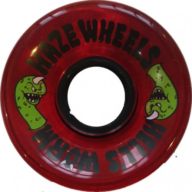 Roues Haze Wheels Hell's Worm Red Clear 78A