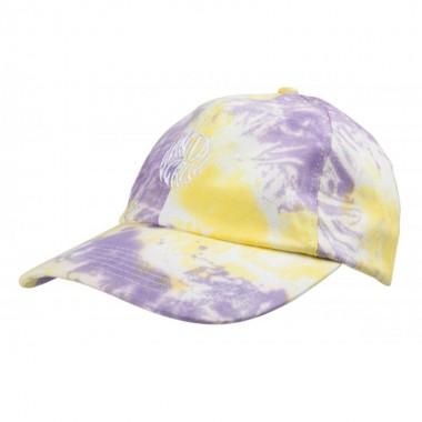 Casquette Santa Cruz Mako Dot Yellow Purple Fold Dye