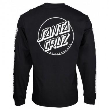 Tee Santa Cruz Opus Dot Sleeves LS Black
