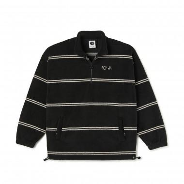 Jacket Polar Stripe Fleece Pullover 2.0 Black