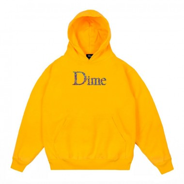 Hoodies Dime Scribble Classic Logo Yellow