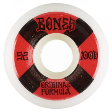Roues Bones 100'S V5 Sidecut White Red