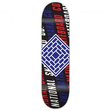 Board The National Skate Co. Logo Slant Black