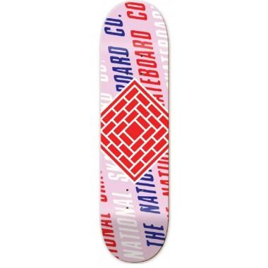Board The National Skate Co. Logo Slant Pink