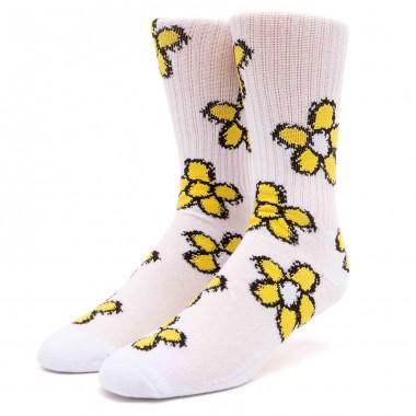 Socks Huf Pushing Daisies TT White