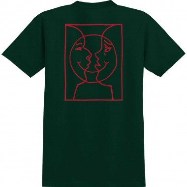 Tee Krooked Moon Smile Raw SS Forrest Green