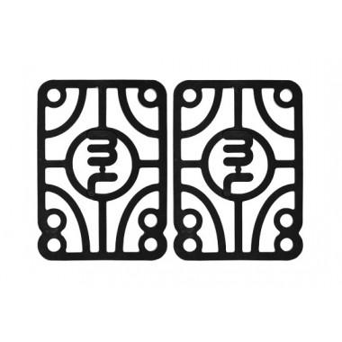 """Pads Mini Logo """"25 (6,35mm) Black (X2)"""
