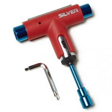 Tool Silver Red Blue