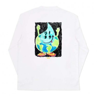 Tee Snack Peace Officer LS White