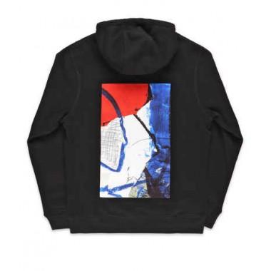 Hoodies Poetic Collective Painting Black