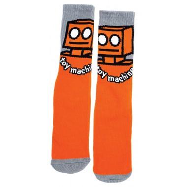 Socks Toy Machine Robot Orange