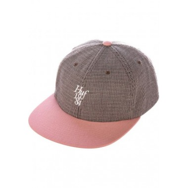 Casquette Huf Micro Houndstooth Dusty Rose