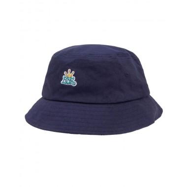 Bob Huf Cap Crown Reversible Bucket Navy Blazer