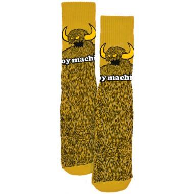 Socks Toy Machine Furry Monster Mustard