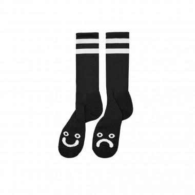 Socks Polar Happy Sad Long Black