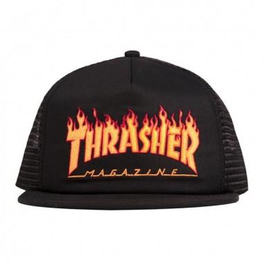 Casquette Thrasher Flame EMB Mesh Black