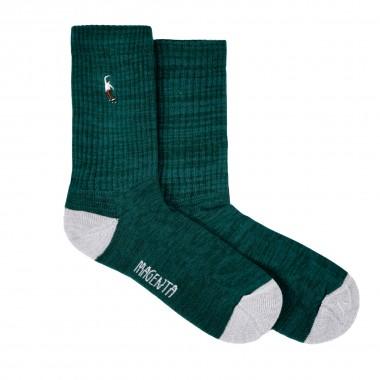 Socks Magenta PWS Green