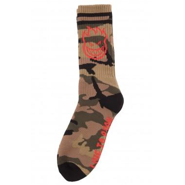 Socks Spitfire Bighead Camo Red Black